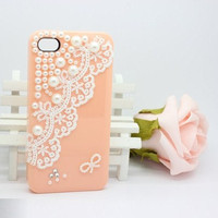 Pearl Lace case iphone 4 case iphone 4s case