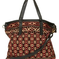 Women's Topshop Tapestry Tote with Faux Leather Trim