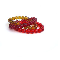 Red Bracelets --- Stretch Bracelet,