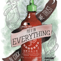 "An Ode To Sriracha - 8""x10"" Print For Your Kitchen"