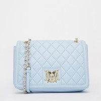 Love Moschino Quilted Shoulder Bag in Pale Blue