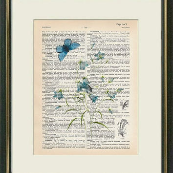 RHAPSODY IN BLUE 1 - Dictionary art -Vintage art book page print ...