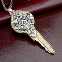 Key to Spirituality  Recycled Key Pendant by TrampsAndThieves