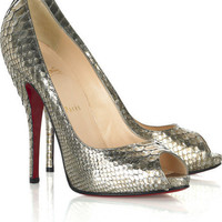 Christian Louboutin Cosmo 120 python pumps - &amp;#36;200.00