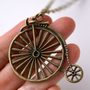 ShanaLogic.com -Antique Bicycle Necklace - Jewelry - Girls