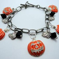 Halloween Charm Bracelet by EveblueBeadery on Zibbet