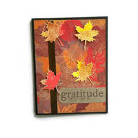 Gratitude Fall Leaves Card
