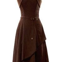 Viscose Corset Dress with Waist Coat