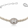 RZ Jewelry Shop - Clear Crystal Macrame Bracelet