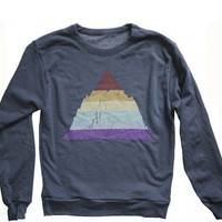 Unisex Rainbow Mountain Sweatshirt : Revel & Riot LGBTQ merchandise and gay rights graphic t-shirts | Revel & Riot