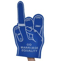 Marriage Equality Foam Hand : Revel & Riot LGBTQ merchandise and gay rights graphic t-shirts | Revel & Riot