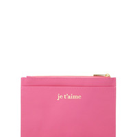 Je T'Aime Zippered Pouch