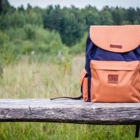 'Coock' Backpack blue-brown by VELOTTON
