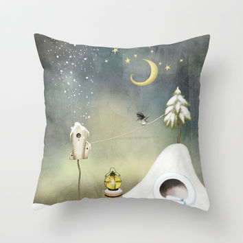 Dreamery III Throw Pillow by Texnotropio