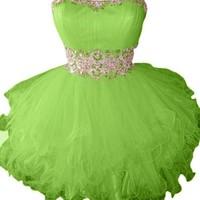 Sunvary Cute Sweety 16 Cocktail Homecoming Dress Evening Dress Mini - US Size 2-Light Green