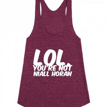 You're Not Niall Horan-Female Tri Cranberry Tank