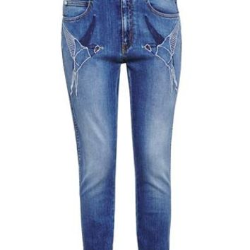 STELLA MCCARTNEY   Swallow Embroidered Jeans   Browns fashion & designer clothes & clothing