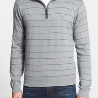 Men's Vineyard Vines 'Mill River' Pinstripe Quarter Zip Pullover