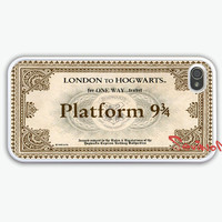 Hogwarts Express, iPhone 4 Case, iPhone 4s Case, Hogwarts Express Train Ticket , iPhone 4 Hard Case