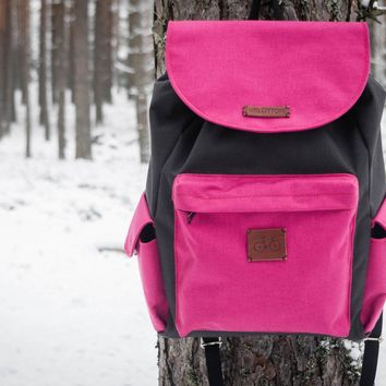 Backpack 'Coock'| Black-Pink by VELOTTON