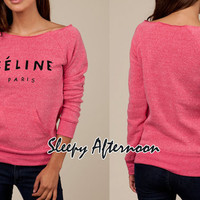 Celine - Women Eco Fleece Sweatshirt -  Hot Pink