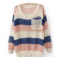 Product search_Round Neck Dot Pink Sweater_udobuy - Fashion Dress with Free Shipping