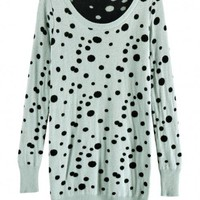 Dot Rabbit Cashmere Sweater Green and Black$40.00