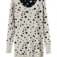 Dot Rabbit Cashmere Sweater Beige$40.00