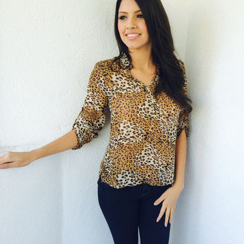 Danity Cheetah Top