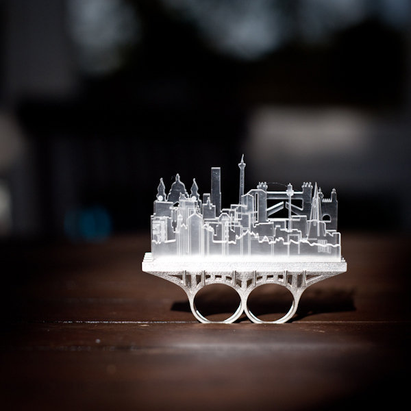 City Two Finger Ring by Christina Elleni