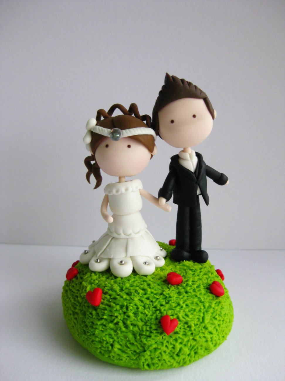 Wedding Clay Cake Topper - Garden .. on Luulla