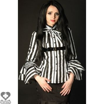 BLOUSE | STRIPED BUCKLE