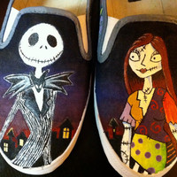 Custom Hand Painted Shoes - Nightmare Before Christmas