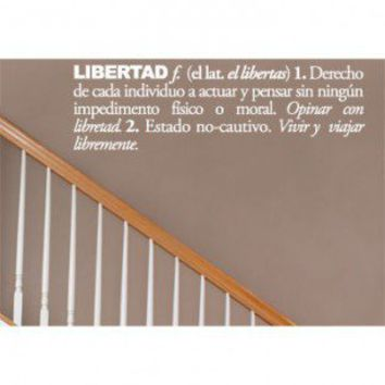 ADZif Blabla Libertad (Spanish) Wall Decal - T3118-SP - All Wall Art - Wall Art & Coverings - Decor
