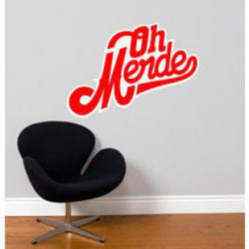 ADZif Blabla Oh Merde! Wall Decal - T3129-R - All Wall Art - Wall Art & Coverings - Decor