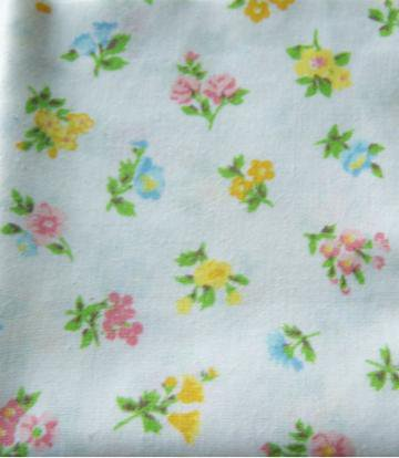 Pink Yellow and Blue Floral Fat Quarter by fugeecat on Zibbet