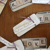 DIY Wedding Challenge 2010: Scrabble Magnet Favors - Project Wedding