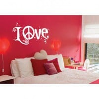 ADZif Blabla Peace and Love Wall Decal - T3113 - All Wall Art - Wall Art &amp; Coverings - Decor