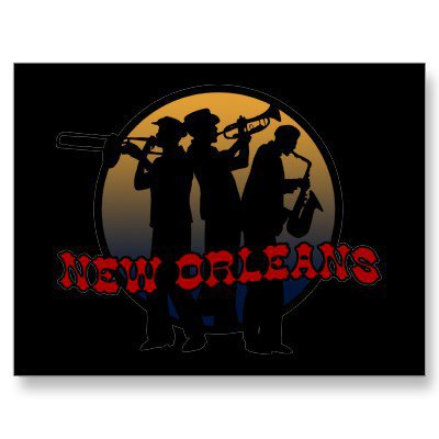Retro New Orleans Jazz Post Cards from Zazzle.com