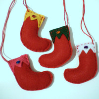 Felt Ornaments - Stockings
