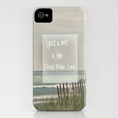 You &amp; Me &amp; The Deep Blue Sea iPhone Case by Joy StClaire | Society6