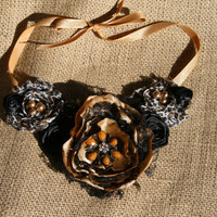 Cheetah Bib Necklace