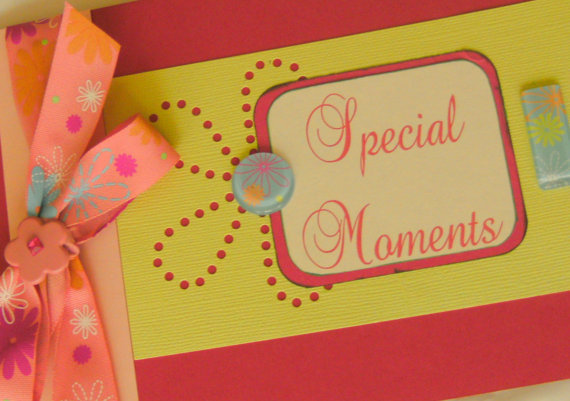 Mini Scrapbook Photo Album Special Moments