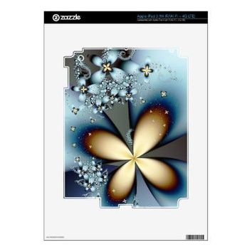 Blue Gold 4 Ipad 3 Skin from Zazzle.com