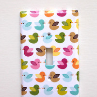 Switchplate Cover Flock of Birds Pattern Single Cover