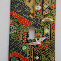 Switchplate Cover Japanese Paper Single Cover