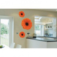 ADZif Foto Orange Gerbera Trio Wall Decal - F1106 - All Wall Art - Wall Art &amp; Coverings - Decor