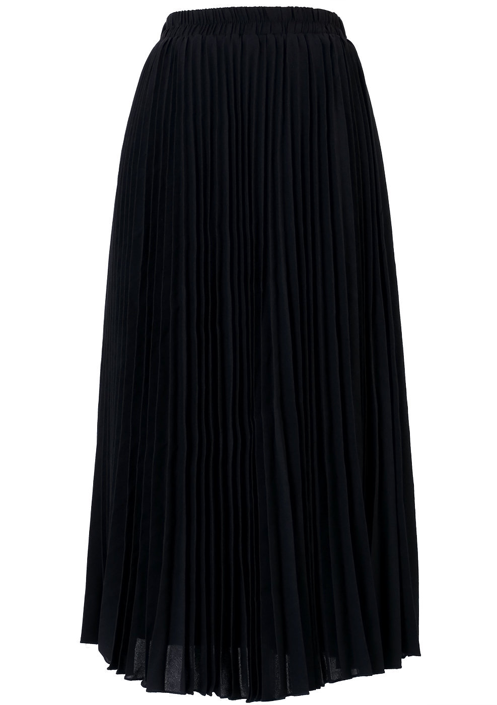 black pleated maxi skirt black s from chicwish
