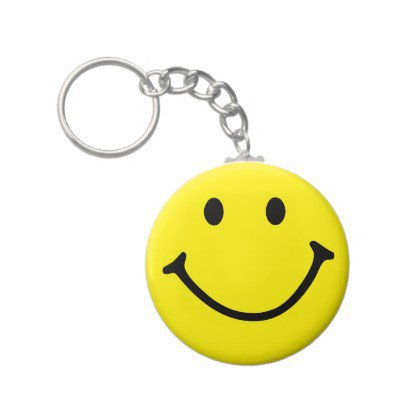 Yellow Smiley Face Keychain from Zazzle.com