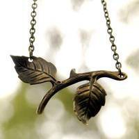Brass Twig Necklace - $17.50 : RagTraderVintage.com, Handmade Indie Retro Accessories